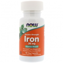 Витамины NOW Foods Iron  36 mg 90 капсул